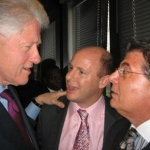 President Bill Clinton, former Utah Democratic Chairman Donald Dunn, and Arthur Benjamin